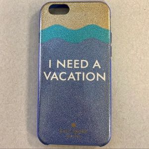 Kate Spade I Need A Vacation iPhone 6s, 7 Case